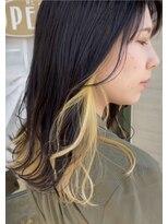 ヘアーガーデン シュシュ(hair garden chou chou)summerインナーカラー*ひまわりカラー