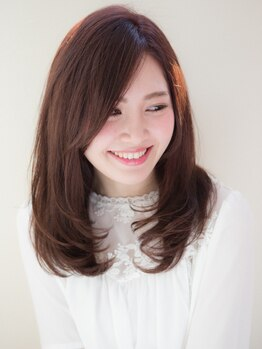 メイクスカトレア(Make's CATTLEYA)の写真/「最近あなたの髪きれいね!」そんな事を言われる天然ハーブの恵みにこだわった地肌と髪に優しいカラー♪