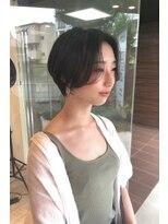 ヘアメイク シュシュ(Hair make chou chou)ショートパーマ黒髪ハイライトカラー30代40代大和八木