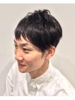 トコヤ ニュースタンダード オブ メンズヘアサロン(tokoya)ミディアムショートレイヤースタイル