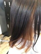 ラシクベル(Lashiku Belle)秋に向けて暖色カラーに!オレンジ色のインナーカラー