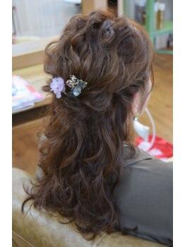 ビューティーサロン マツキ(Beauty Salon Matsuki)の写真/≪結婚式/二次会/女子会/お呼ばれに★≫シーンに合わせたヘアセットで周りの視線を独り占め♪