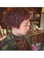 アティック ヘアーデザインアンドリラクゼーション(attic hair design&relaxation)赤髪×マッシュショート☆