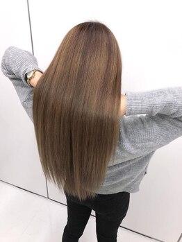 アルルヘアー ファン(ARURU HAIR fan)の写真/髪を乾かすだけでいつでもストレート☆ブローの時間短縮で朝が楽チン☆お手入れの楽さにホントに感動!!