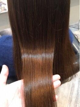 ルッソカナン(Lusso canaan)の写真/驚異的にリピーターが続出中!【Lusso独自】の【髪質改善トリートメント】で通えば通う程,絹のような美髪へ!