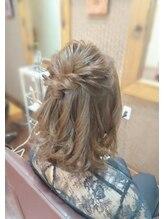 ヘアリゾート アンド スウェル(Hair Resort &SWELL)ミックスカールがかわいい♪♪ハーフアップ
