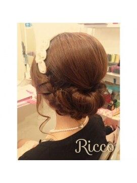 結婚式の髪型(ヘアアレンジ) ワンロールクラシカル巻き