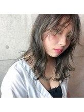 アース 北浦和店(HAIR&MAKE EARTH)透明感ロブ☆カーキグレージュ