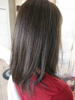 コンティニュー ヘア デザイン(CONTINUE hair design)の写真/SNSで大人気♪【N.カラー】で透明感UP!!落ち着いた色味だから、オフィスでも浮かない上品な仕上がりに◎
