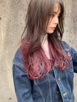 マイ ヘア デザイン(MY hair design)ピンキーグレージュグラデーションカラー