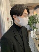 ◇センターパート ニュアンスパーマ 黒髪 かきあげヘア