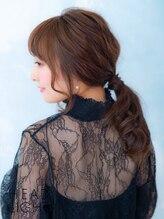 アーサス ヘアー デザイン 燕三条店(Ursus hair Design by HEAD LIGHT)ポニーテール風アレンジ