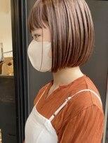 ヘアーアイスカルテット(HAIR ICI QUARTET)rena◯ミニボブ、ブラウンベージュ