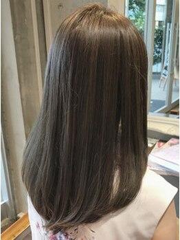 スーリールリアン(Sourire lien)の写真/【五反田/Sourire lien】手触りの違いを実感!冬に気になる乾燥…髪の内部から整え、極上のうるツヤ髪へ♪