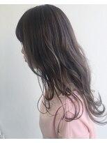 ヘアメイク オブジェ(hair make objet)ナチュラルパープルブラウン×スペシャルハイライト *** KAI