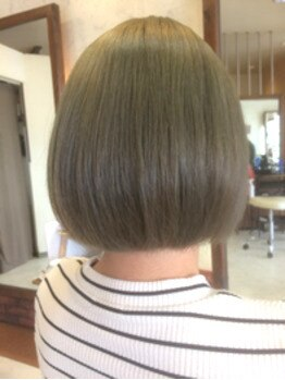 ミューズ ヘアー(Muse hair)の写真/《Muse hair》オススメ【グロスオンカラー】で色持ち&艶感UP♪髪のボリュームコントロールも出来ちゃう◎