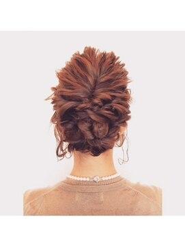 結婚式 髪型 ショートボブ ヘアアレンジ アンティークアレンジ
