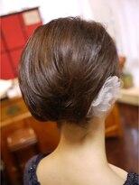 キーナ(Organic Hair KI-NA)丸くボブ風にしたショートヘア
