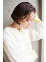 オブヘアージユウガオカ(Of HAIR Jiyugaoka)透け感が大人かわいいシンプルボブ