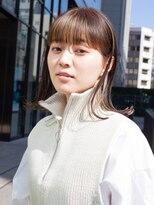 【白川style】20代30代小顔カットミディアムハイライトインナー