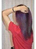 ヘアーサロン エール 原宿(hair salon ailes)(ailes 原宿)style354 ストレート☆インナーパープル