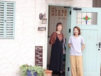 ヘアサロン シェア(hair asalon Share)の写真/女性ならではの距離やアドバイスでキレイに◎自然と笑顔になれてホッと落ち着く空間が広がるサロン-Share-