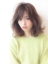 アグ ヘアー リノ 大名店(Agu hair reno)《Agu hair》伸ばしかけにも◎ウザバング×浮遊感ミディ