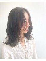 ヘアメイク オブジェ(hair make objet)裾カラー GReeeeN