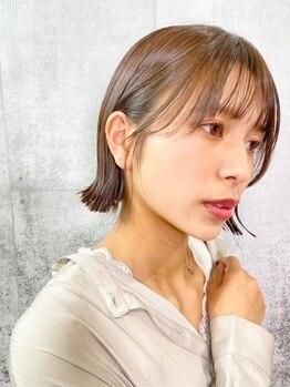 コソット(kosotto)の写真/お洒落さは<カラー×質感>から!髪をより綺麗に見せてくれる低ダメージな透明感カラーが大好評♪