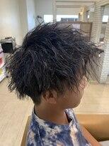 【HAPPINESS高山】ツイストスパイラルパーマかき上げヘア