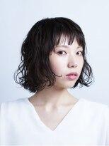 サラビューティーサイト 志免店(SARA Beauty Sight)くせ毛っぽいカールが可愛いふんわりボリューミーボブ