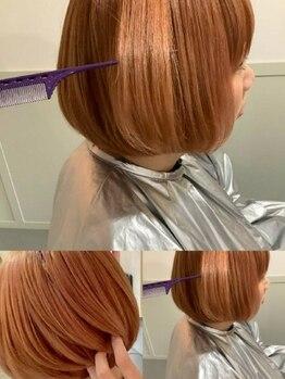 リンクドア(LINK door)の写真/アイロンの熱で、髪の毛の中にうるおいを閉じ込める◎髪質改善トリートメント☆憧れのうる艶美ヘアに…♪