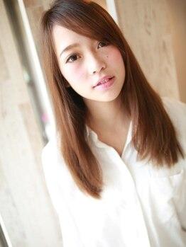 アグ ヘアー エイル 須賀川店(Agu hair ail)の写真/縮毛矯正で気になるクセが素直になる…シルクの様に柔らかな極上ストレート!理想のフォルムへ◎