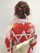 浴衣ヘアアレンジ◯ねじりと編み込みたっぷりまとめ髪