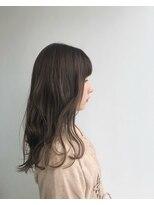 ヘアメイク オブジェ(hair make objet)オリーブベージュcolour ロング
