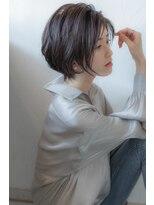 エルフォ(elfo)【elfo】かきあげ前髪で作る上品で大人っぽいショートボブ