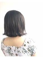 ヘアメイク オブジェ(hair make objet)切りっぱなしグレージュボブ☆★KAI☆★