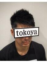トコヤ ニュースタンダード オブ メンズヘアサロン(tokoya)アシメバング風デザインショートカット