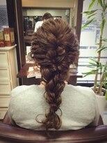 結婚式ヘア~編み込みヘアセット