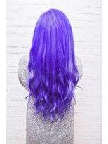ヘアサロン エフ(HairSalon F)原色パープルロングスタイル