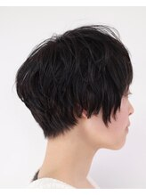 セックヘアデザイン(Sec hair design)【Sec. hair design 水戸】ニュアンスカール&奥行きショート