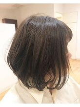 ヘアーロイズ(HAIR Loi's)ふんわりグレージュボブ