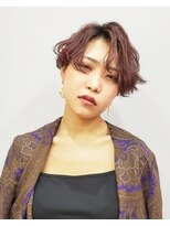 エイム ヘアメイク 横川店(eim HAIR MAKE)センターパートがかっこいい☆ダークバイオレット