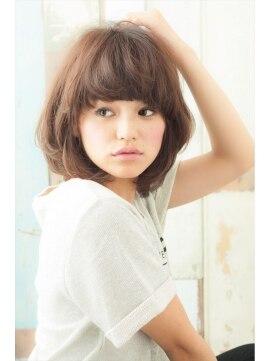 ミンクス シモキタザワ(MINX shimokitazawa)【MINX】厚めの前髪で目ヂカラUP!ガーリなワンカールボブ