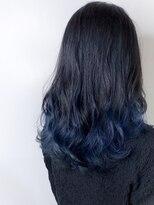 *ブルーブラック×ネイビーブルー*グラデーションカラー