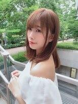 ユーフォリアギンザ(Euphoria GINZA)20代30代40代小顔前髪&毛先パーマヌーディーベージュカラー銀座
