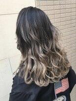 ヘアーデザイン アコースティック(Hair Design ACOUSTIC)外国人風バレイヤージュカラー