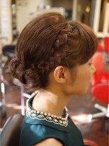 キーナ(Organic Hair KI-NA)リボンシニヨンの編みこみ