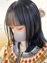 ルッツ(Lutz. hair design)バングインナーカラー