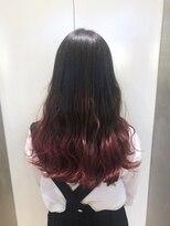 ヘアサロン ドット トウキョウ カラー 町田店(hair salon dot. tokyo color)【cherry red】ブリーチグラデーションカラーリスト田中#町田